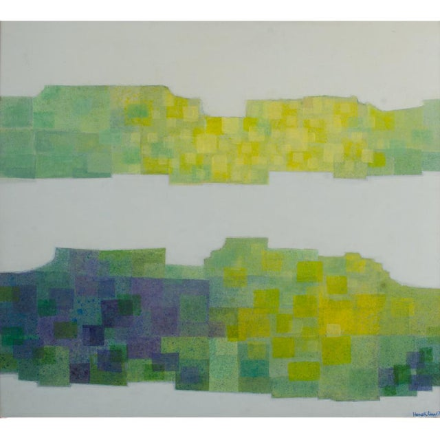 """1970s """"Double Landscape"""" Abstract Oil Painting by Hans Kline, Framed For Sale - Image 9 of 13"""