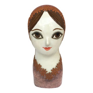 1960s Vintage Gemma Taccogna & Fred Sexton Papier-Mâché Bust of a Woman For Sale