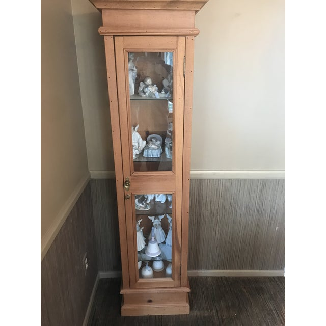 Wood Pine Curio Cabinet For Sale - Image 7 of 7