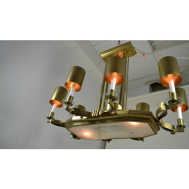 Large Art Deco Style Modernist Chandelier For Sale In New York - Image 6 of 11