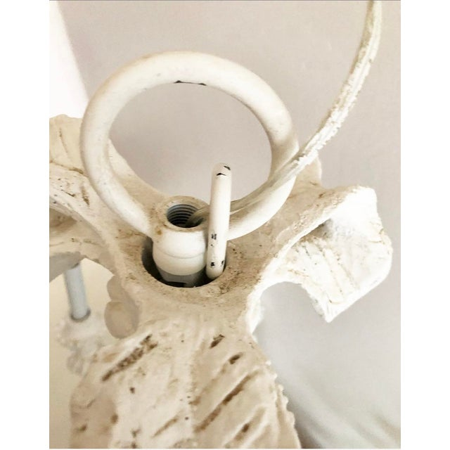 Vintage Dorothy Draper Style Draped White Chandelier For Sale - Image 9 of 13