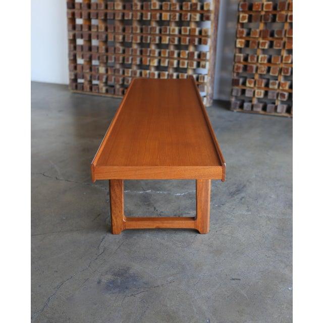 "Mid Century Torbjørn Afdal for Bruksbo Teak ""Krobo'' Bench For Sale In Los Angeles - Image 6 of 11"