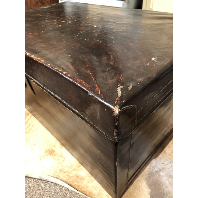 19th Century Chinese Leather Trunk For Sale In Charleston - Image 6 of 13