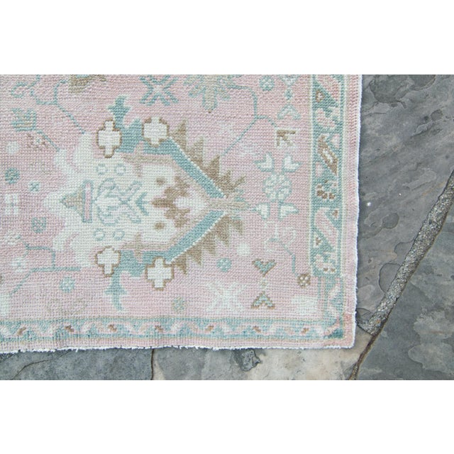 Textile House of Séance - 1980s Turkish Oushak Runner Handwoven Rug - 2′3″ × 12′10″ For Sale - Image 7 of 11