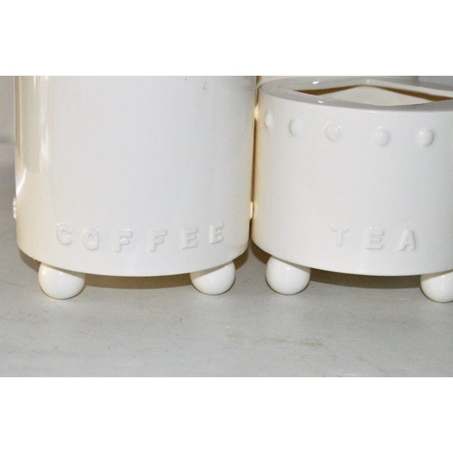 Swid Powell Tigerman McCurry Ceramic Canisters - Set of 4 - Image 5 of 9