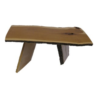 Cascade Edge Wood Coffee Table For Sale