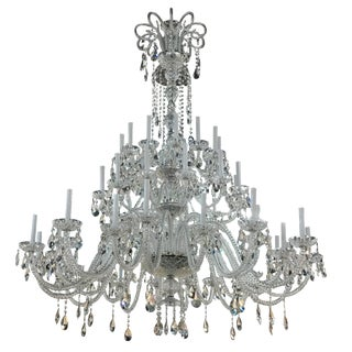Strass Large Crystal Chandelier For Sale