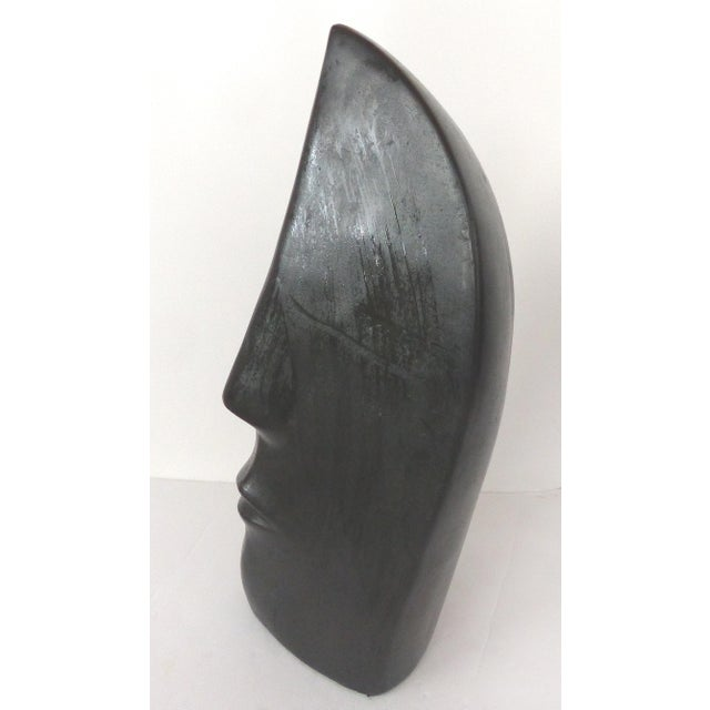 Offered for sale is a large hand built ceramic pottery figurative sculpture of a face by Mexican artist Yuri Zatarain. The...
