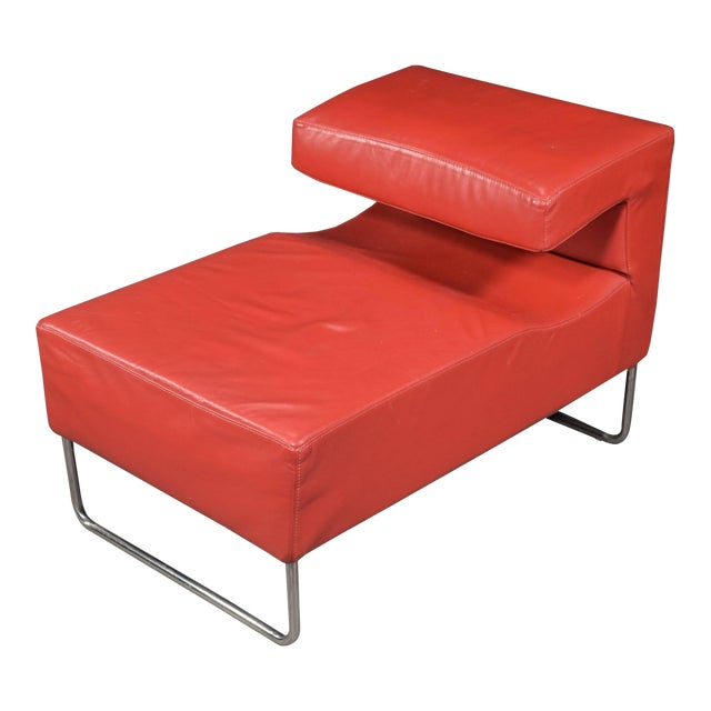 Red Chaise Longue Chair For Sale