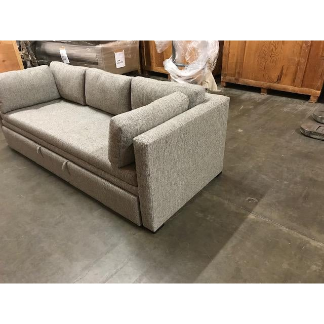 Custom Burton James sofa with trundle bed. Never used or delivered to client. Quality designer fabric. Burton James in a...