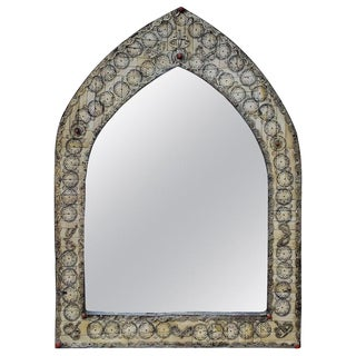 Moroccan Dome Shape White Mirror For Sale