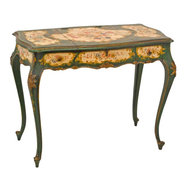 Venetian Painted Desk or Dressing Table - Image 1 of 4