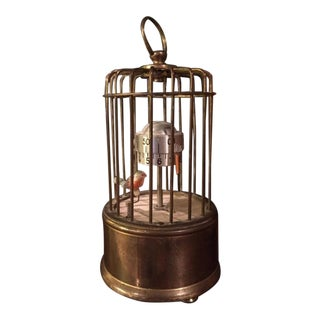 1940's Kaiser Art Deco Bird Cage Clock For Sale