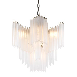 Pulsar Frosted Glass Chandelier For Sale