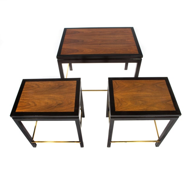SET OF THREE NESTING TABLES BY EDWARD WORMLEY FOR DUNBAR, CIRCA 1950S - Image 5 of 11