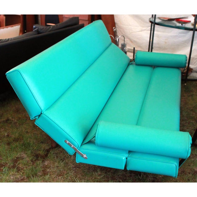 Martin Borenstein Turquoise Daybed Sofa Mid Century Modern C.1960's For Sale - Image 9 of 10
