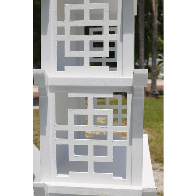 Vintage Fretwork Pagoda Bookcase or Etagere For Sale - Image 4 of 12