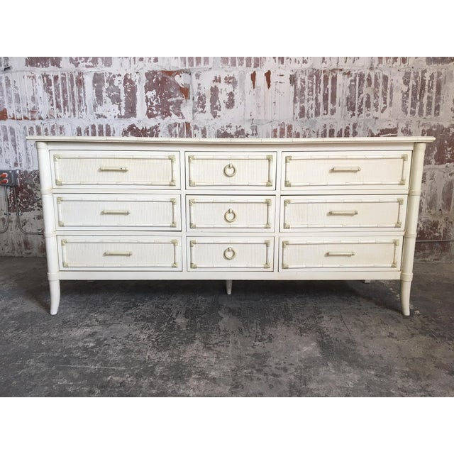 Faux Bamboo Triple Dresser by Thomasville For Sale - Image 10 of 10