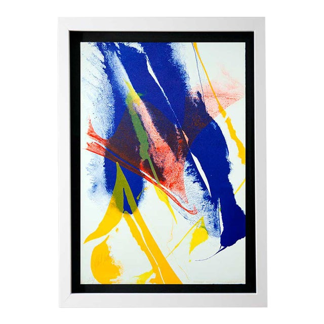 Modern Paul Jenkins Lithograph Original, Hand Signed 1965 Vélin D'Rives +Framing For Sale