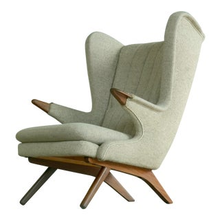 Sven Skipper 1960s Papa Bear Chair Model 91 in the Style of Hans Wegner For Sale