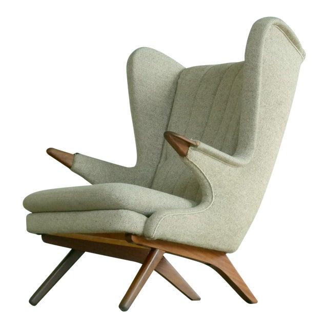 Sven Skipper 1960s Papa Bear Chair Model 91 in the Style of Hans Wegner For Sale
