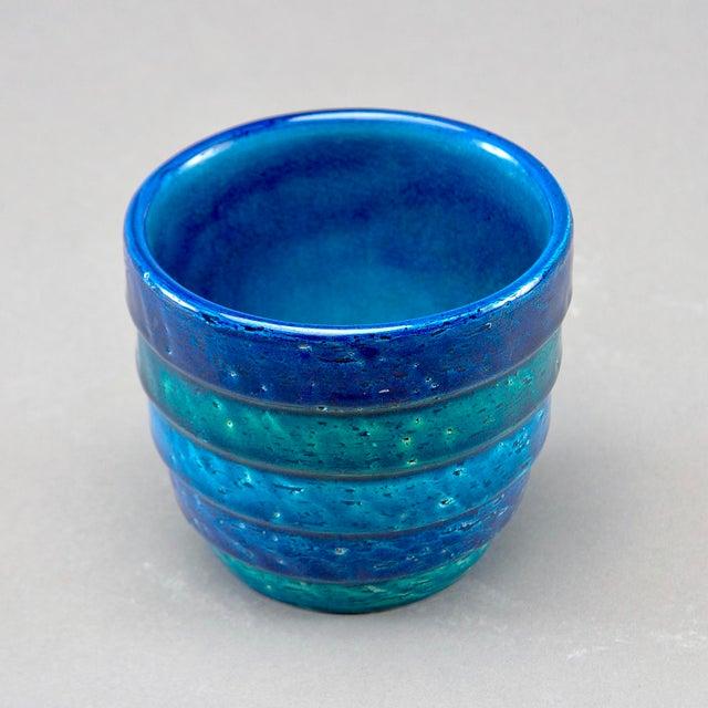 1960s Aldo Londi for Bitossi Small Rimini Blue Planter Pot For Sale - Image 5 of 7