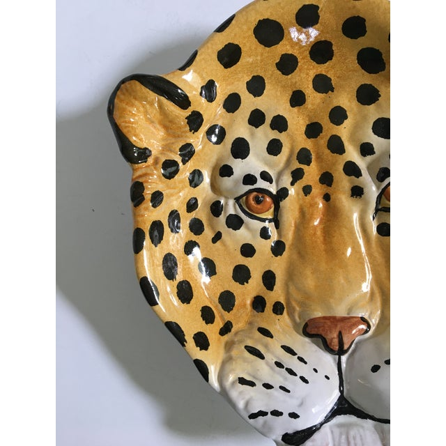 Taste Setter by Sigma Italian Mid-Century Hollywood Regency Handcrafted Pottery Spotted Leopard Dish/Catchall For Sale - Image 4 of 13
