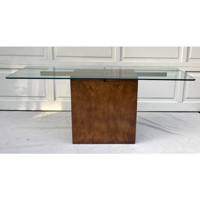 Here is a beautiful console table manufactured by Lane Furniture. This piece comes apart into 4 pieces. The main base is a...