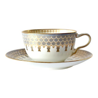 Antique Wedgwood England Thistle Tea Cup and Saucer For Sale