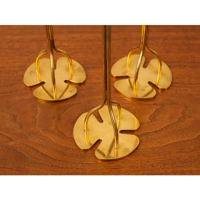 Mid-Century Modern 1950s Josef Frank Candlesticks - Set of 3 For Sale - Image 3 of 12
