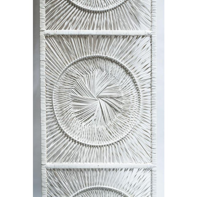 Boho Chic White Wicker Wall Decor - Image 3 of 4
