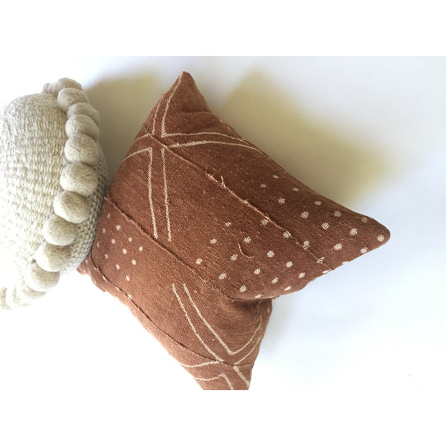 African Mudcloth Rust Pillow Cover - Image 5 of 7