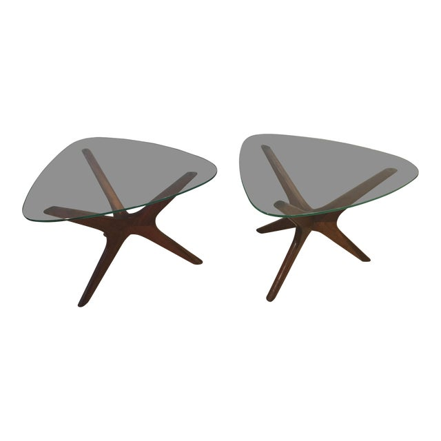 Mid-Century Modern Adrian Pearsall Tri-Symmetric Occasional Tables - a Pair For Sale
