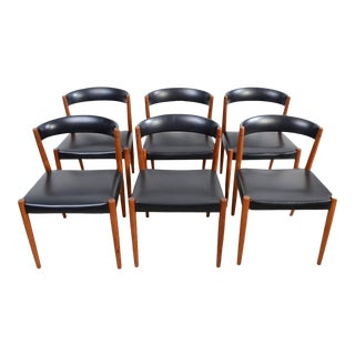 Danish Modern Kai Kristiansen Teak Dining Chairs - Set of 6 For Sale
