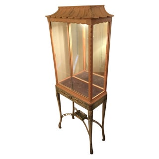 Chinoiserie Lighted Curio Cabinet For Sale