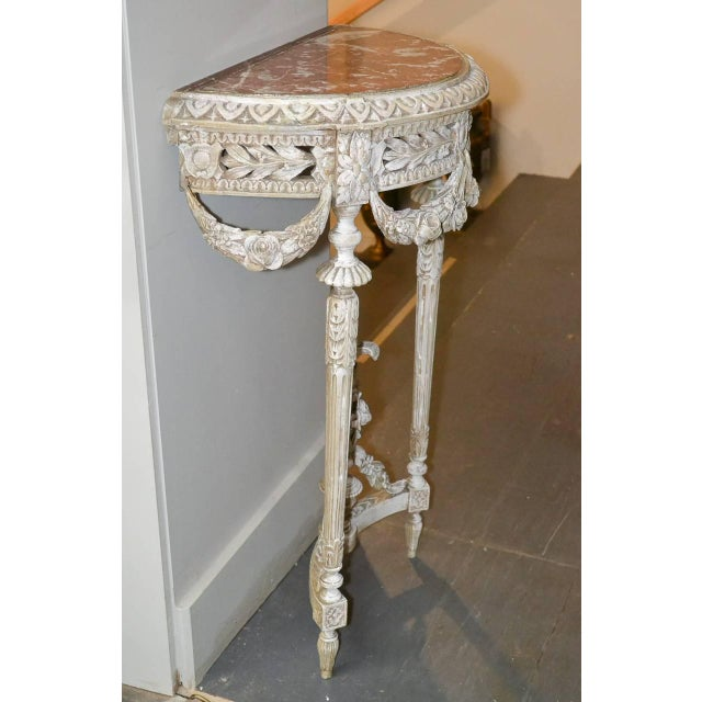 19th Century Pair of French Louis XVI Consoles For Sale - Image 10 of 11