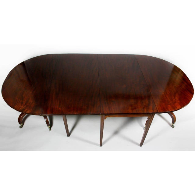 Unusual Irish Regency Two Pedestal Dining Table For Sale - Image 4 of 8