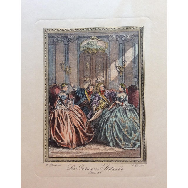 Late 18th Century Late 18th Century Antique Francois Boucher French Engraving Print For Sale - Image 5 of 5
