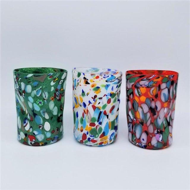 Boho Chic Murano Glass Custom Set of 10 Glasses Goti For Sale - Image 3 of 11