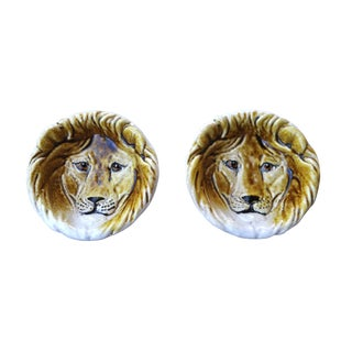 Italian Lion Catch All Dishes, Pair For Sale