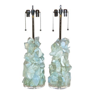 Rock Candy Glass Lamps in Honey Opaline