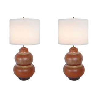 Haeger Pottery Lamps - A Pair For Sale