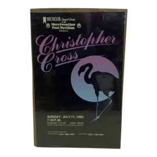 """Vintage """"Christopher Cross"""" Concert Poster For Sale"""