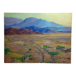 James Merriam -California Desert Wildflowers-Oil Painting -Impressionist c.1930