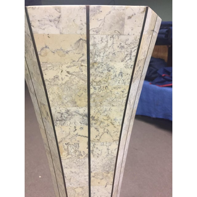 Maitland=Smith Style Tessellated Stone Column For Sale In West Palm - Image 6 of 6