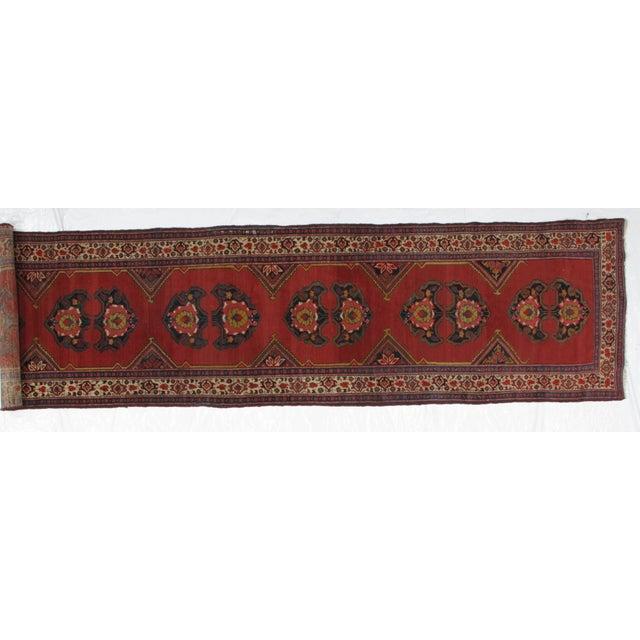 Persian 1920s Leon Banilivi Vintage Persian Mishan Malayer Rug - 3′8″ × 15′5″ For Sale - Image 3 of 7