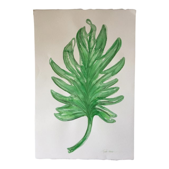 "Original Leaf Watercolor-15"" X 22""-Signed - Image 1 of 4"