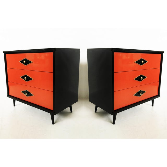 Stunning Pair of Neoclassical Lacquered Chests or Commodes For Sale - Image 10 of 10