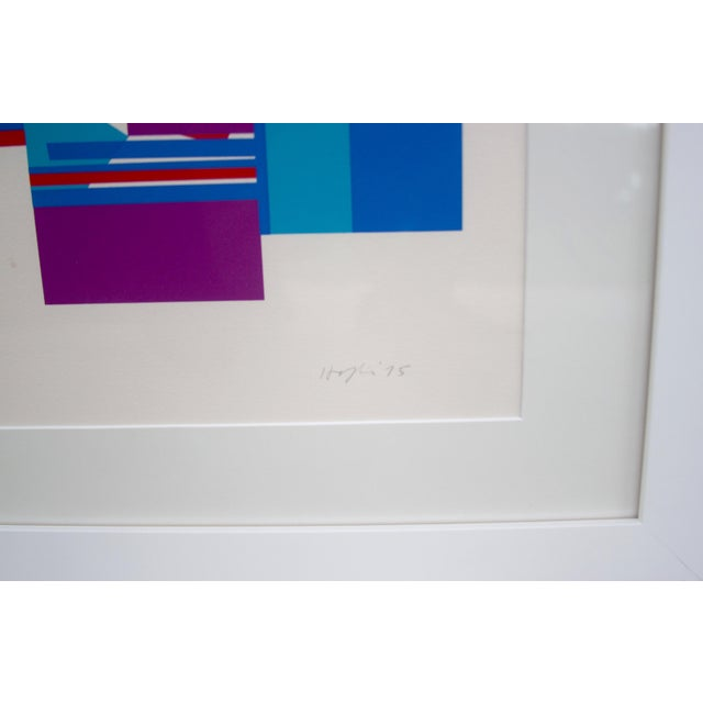 Untitled, 1975 - Budd Hopkins abstract expressionist art, original serigraph, framed with glass.
