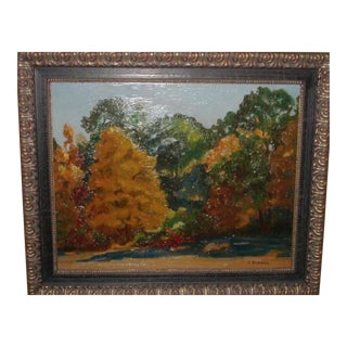 French Impressionist Landscape Painting by Janos Bednar For Sale